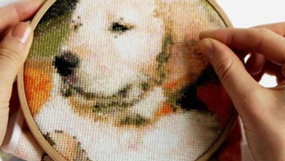 Cross Stitched picture