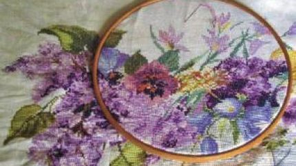 magnolia cross stitch image