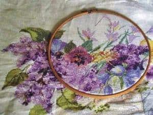 magnolia cross stitch image