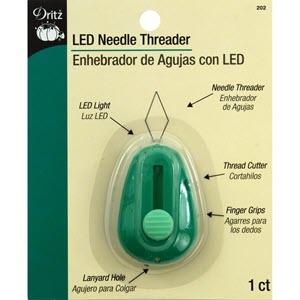 needle threader with light