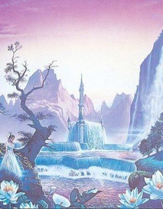 Beautiful Waterfall Princess
