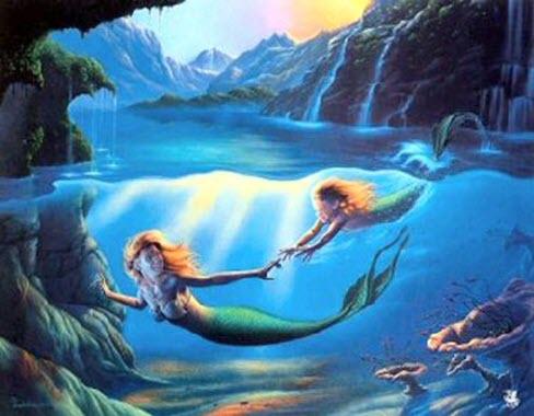Mermaid and Daughter