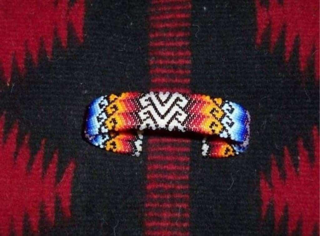 peyote beaded bracelet