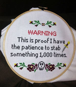 alternative cross stitch ideas