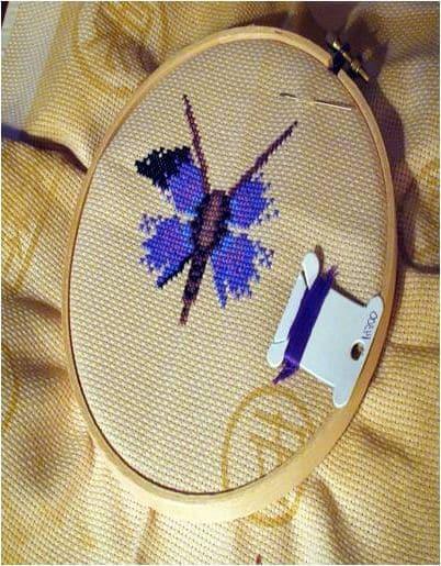 cross stitch dragonfly