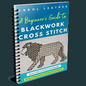 blackwork cross stitch