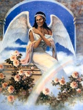 Angel With Rainbow