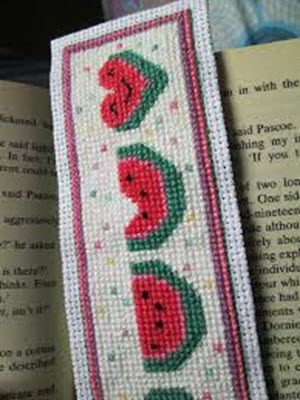 cross stitched bookmark design