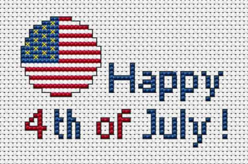 4th of july cross stitch